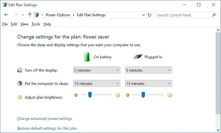 adjust the brightness manually on Windows 10