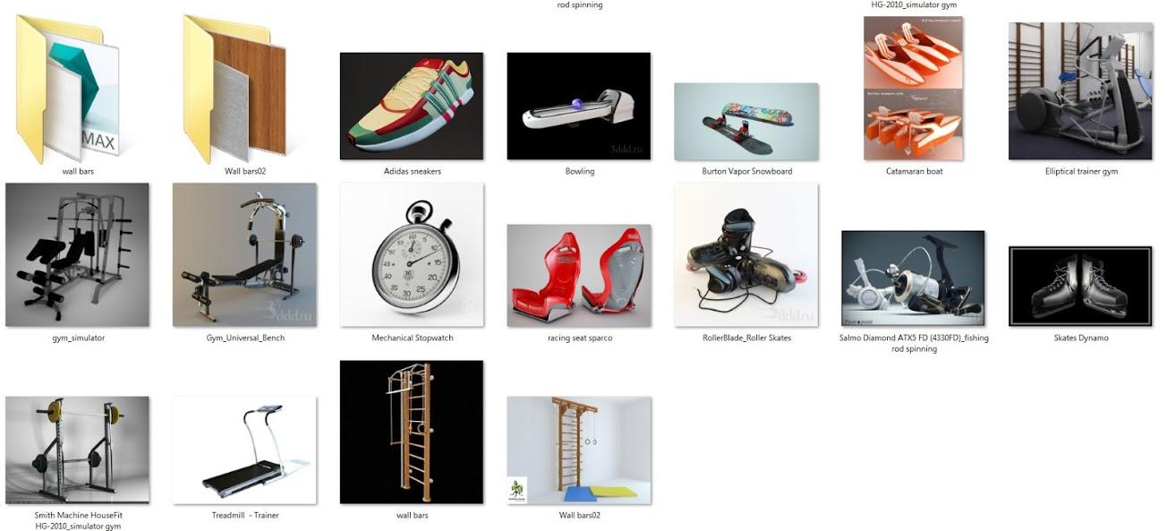 3DDD PRO 3D Models Full 58Gb | bibliothèque graphique 3D MAX