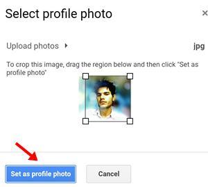 set us profile photo par click kare