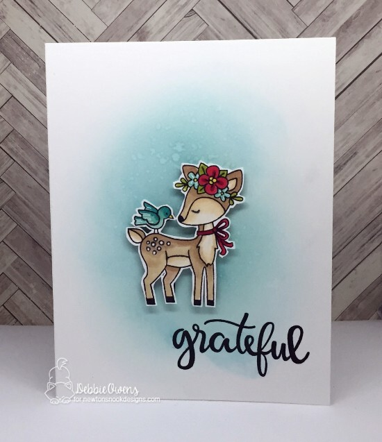 Grateful by Debbie features Woodland Spring and Thankful Thoughts by Newton's Nook Designs; #newtonsnook