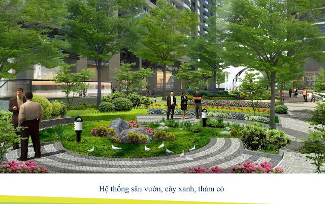 Hệ thống công viên xanh nội khu dự án ICID COMPLEX