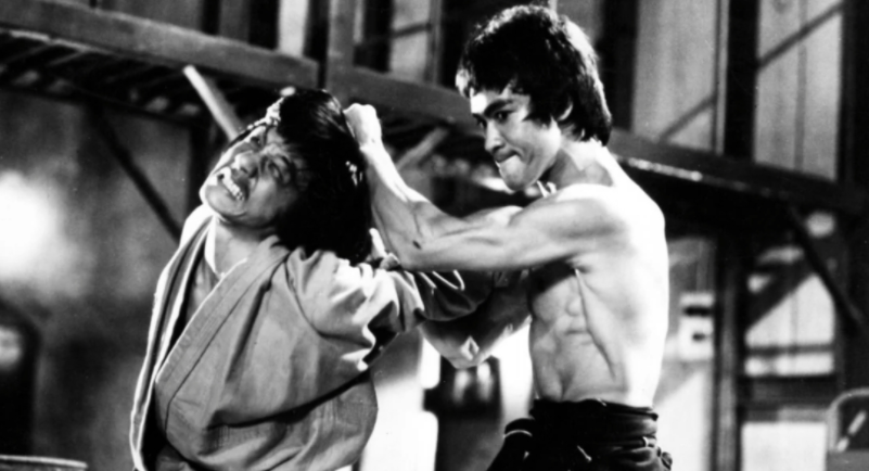 Jackie Chan and Brue Lee