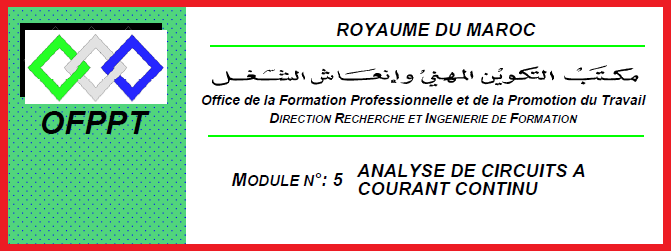 le module m5- analyse circuit courant continu