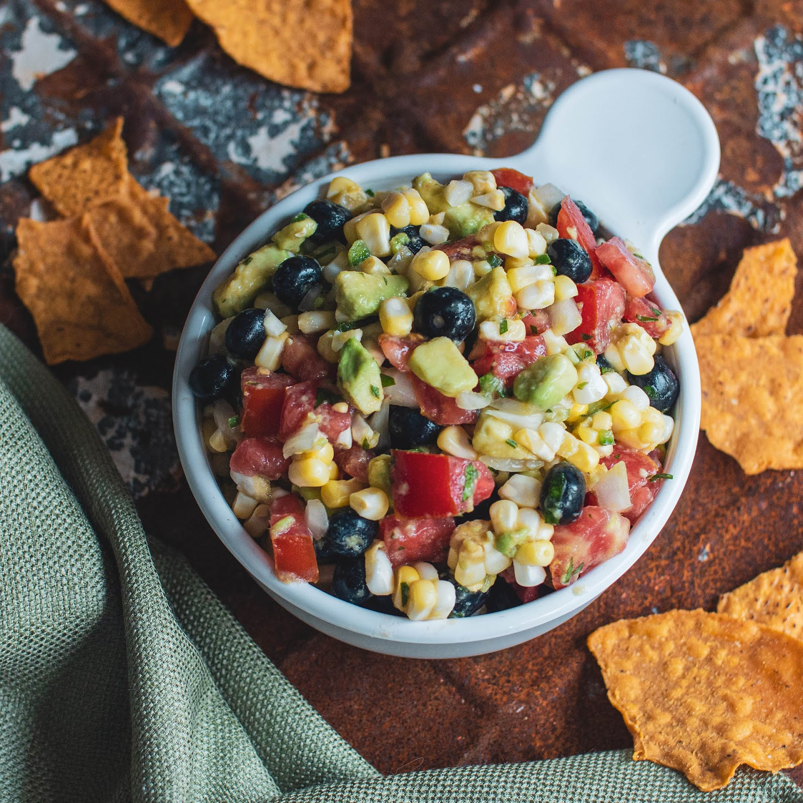 Spicy blueberry, corn and avocado salsa | Local Food Rocks