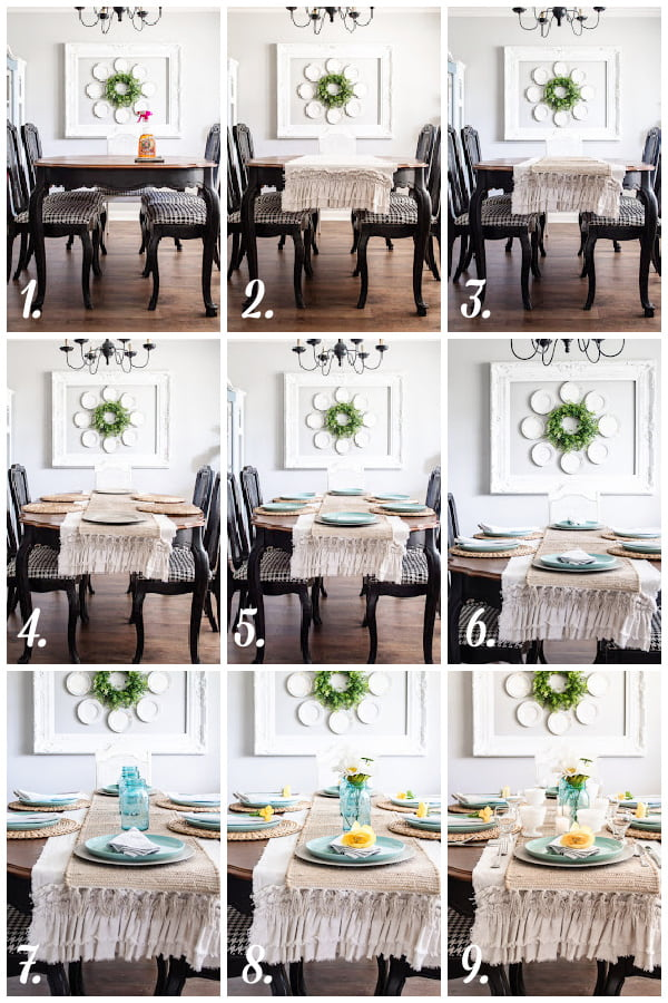 steps to decorating a table in layers