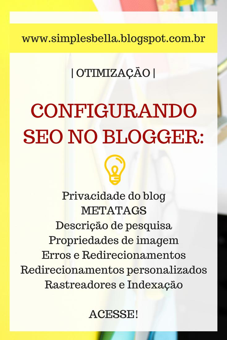 Como usar SEO no Blogger, O que é SEO? Como fazer meu blog aparecer no Google.
