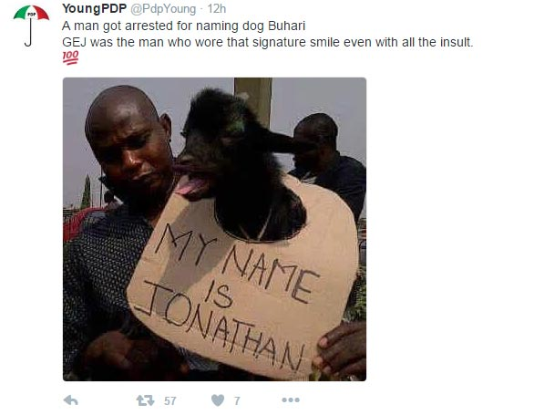 "Someone named his goat ""Jonathan"" during GEJ's regime and this happened"
