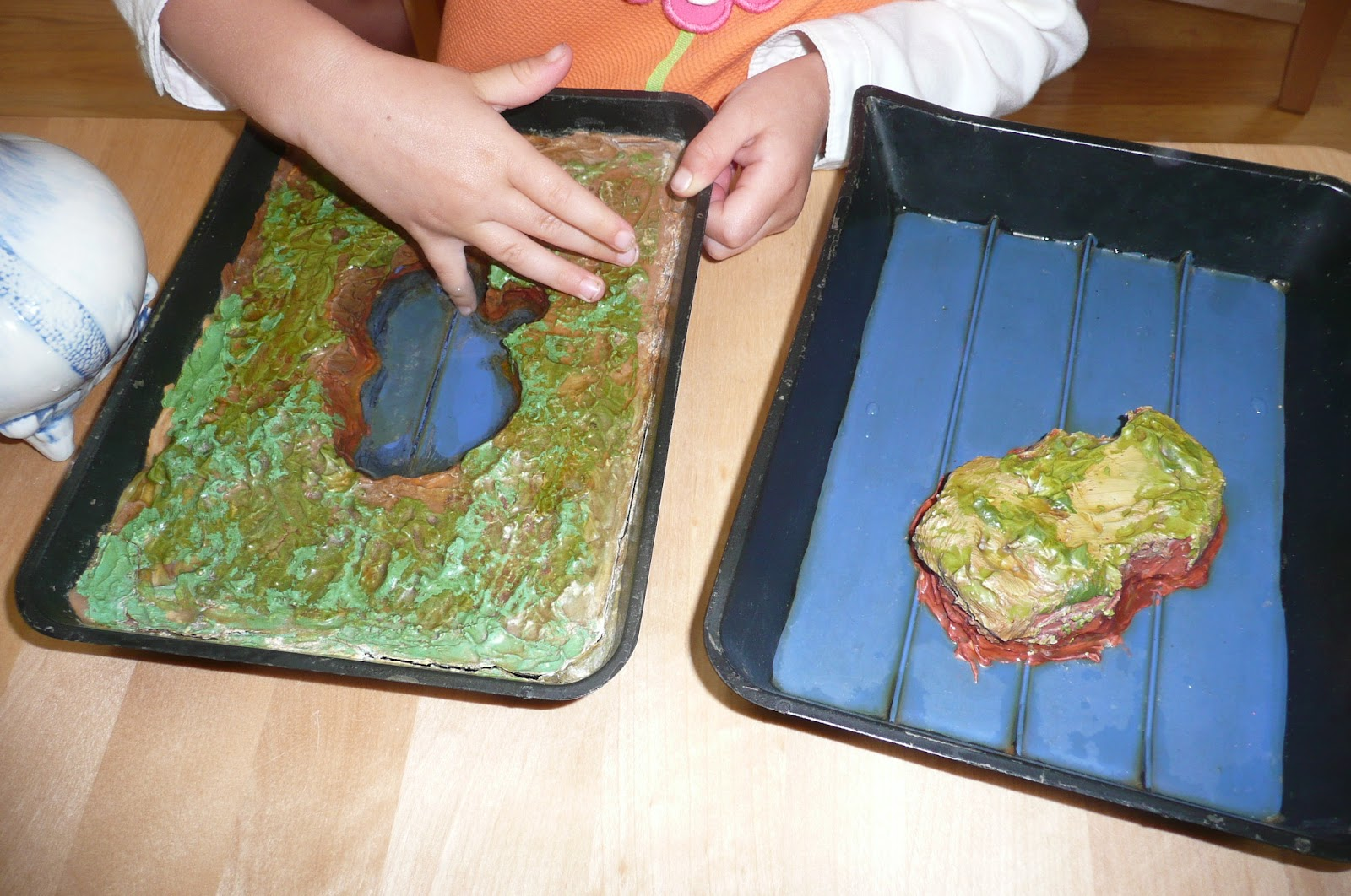 Montessori Teachings Land And Water Forms Island And Lake
