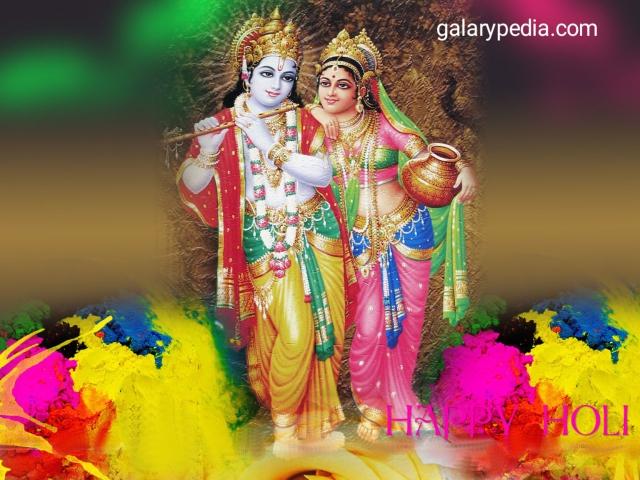 Happy Holi images of Radha Krishna