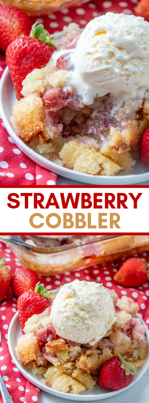 STRAWBERRY COBBLER #desserts #sweets