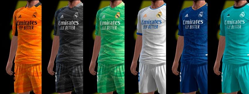 Real Madrid 21-22 Kits For PES 2013