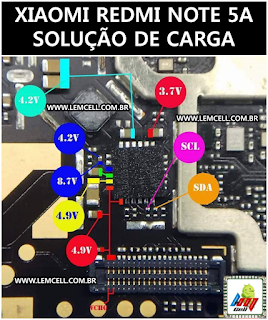Xiaomi Redmi Note 5A Solução de Carga Jumper Xiaomi Redmi Note 5A Not Charging Solution