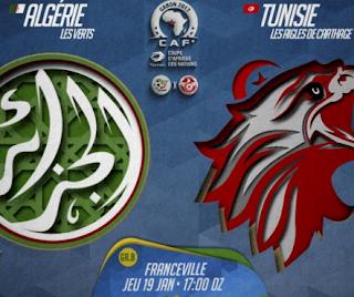كاس افريقيا 2017 الجزائر-تونس القنوات الناقلة