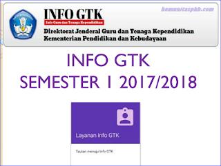 Info GTK Semester 1 Tahun Ajaran 2017/2018 Update 2017