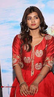 Actress Heba Patel Latest Stills in Red Dress at Mister Movie Trailer Launch Event  0023.jpg
