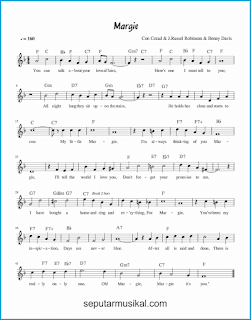 chord margie lagu jazz standar