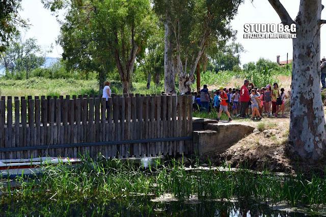 Μαθητές Δημοτικών Σχολείων στην Αργολίδα γνώρισαν την Αλκυονία λίμνη και τον Ποντίνο ποταμό (βίντεο+drone)