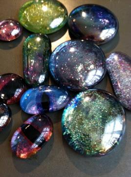 pithy art blog glass nail polish gems
