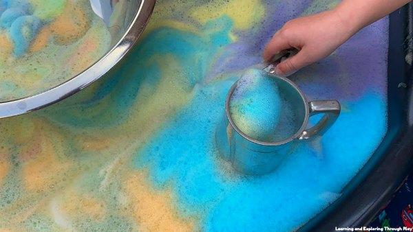 Rainbow Foam Recipe - Sensory Play