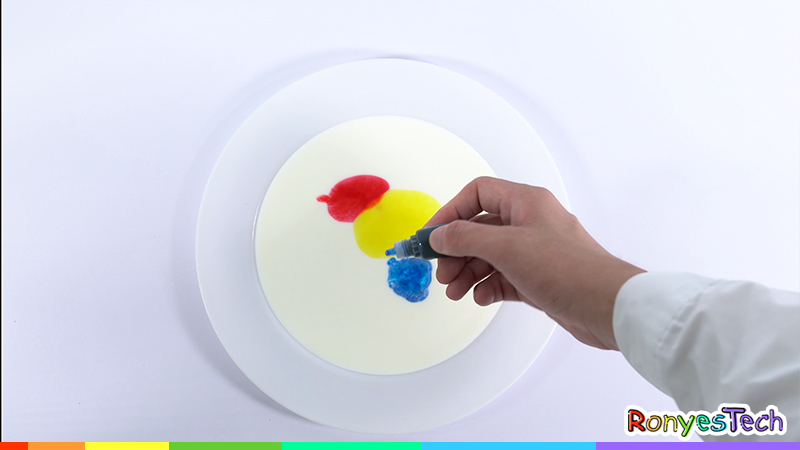 Milk painting STEM activity