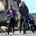 Christmas walk: Gisele Bundchen with his family in a park in New York