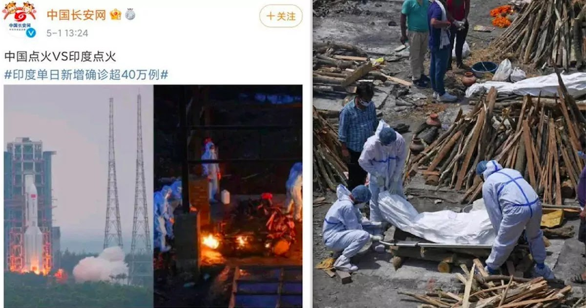 Anger After Chinese Social Media Post Mocks India's CoViD-19 Crisis