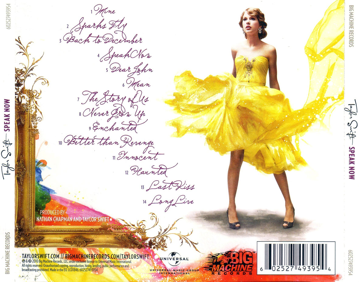 Speak Now Deluxe Edition Album Cover / cooperativadeteatro ...