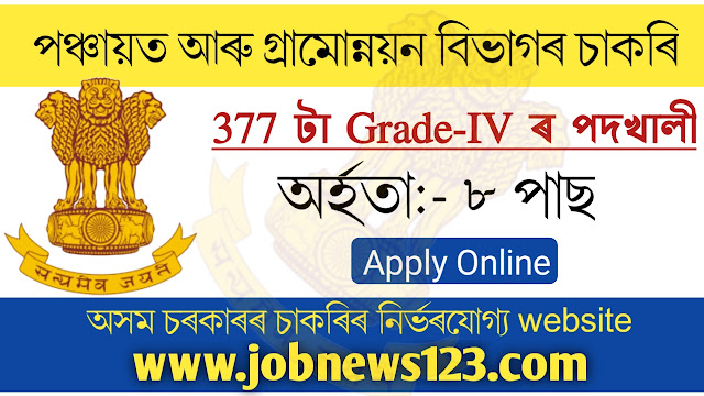 PNRD Assam Grade-IV Recruitment 2021: