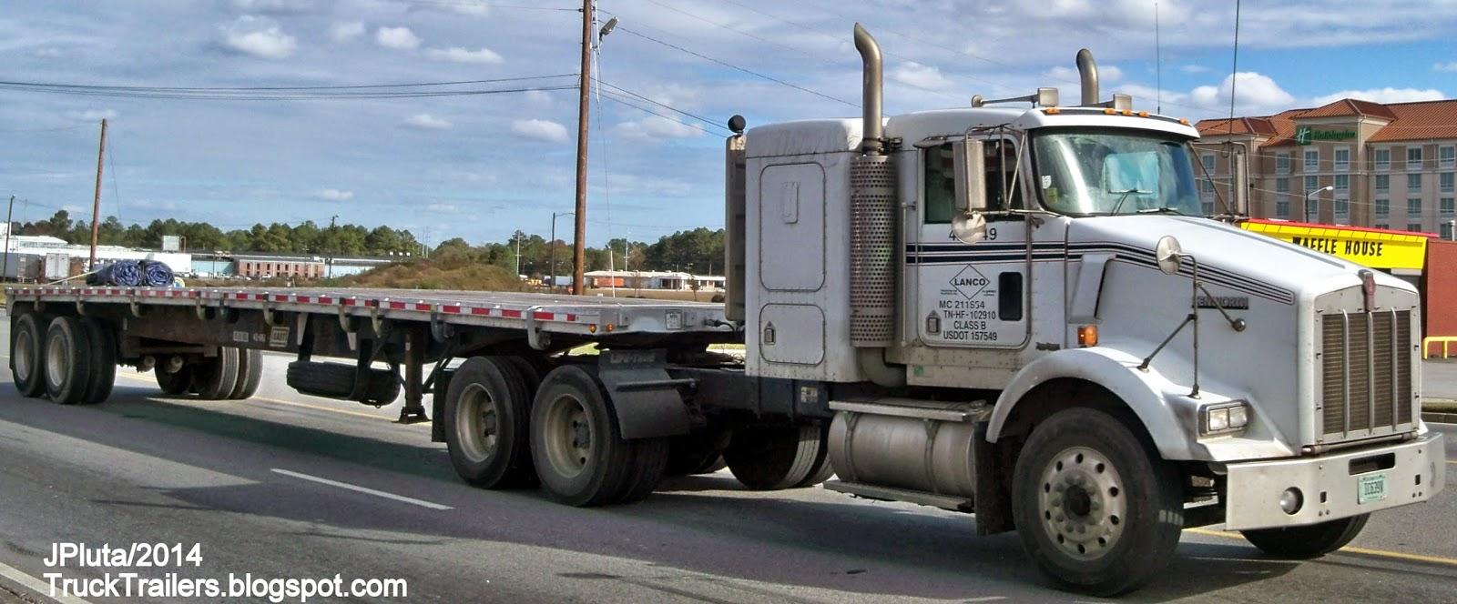 TRUCK TRAILER Transport Express Freight Logistic Diesel Mack