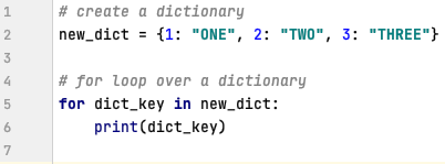 For loop in Python over dictionary