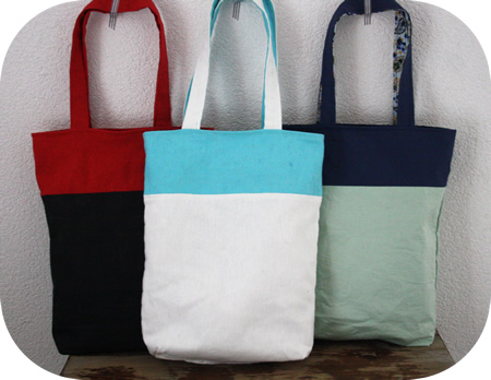 Reversible tote bag tutorial by Happy in Red