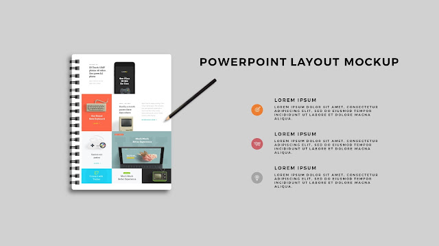 Infographic Spiral Book PowerPoint Mockup Template Slide 3