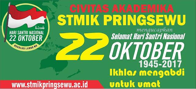 Design Banner Selamat Hari Santri Nasional STMIK Pringsewu