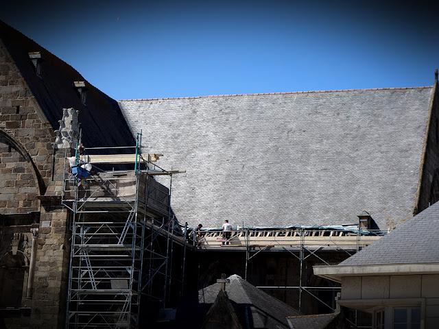 Les travaux sur la toiture de l'Église Saint-Germain - 28 Mai 2020