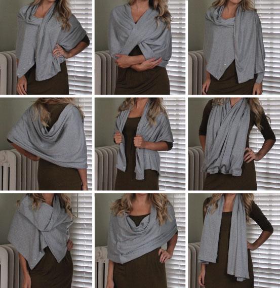 Hammers and High Heels: Sew Easy DIY Multi-Wear Snap Scarf