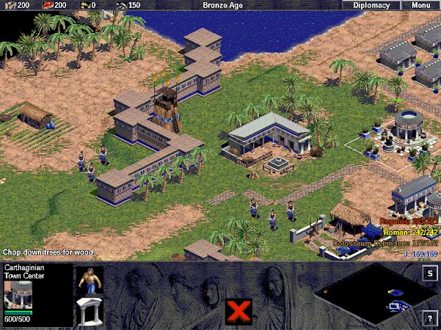 Age of Empires em execução no ReactOS