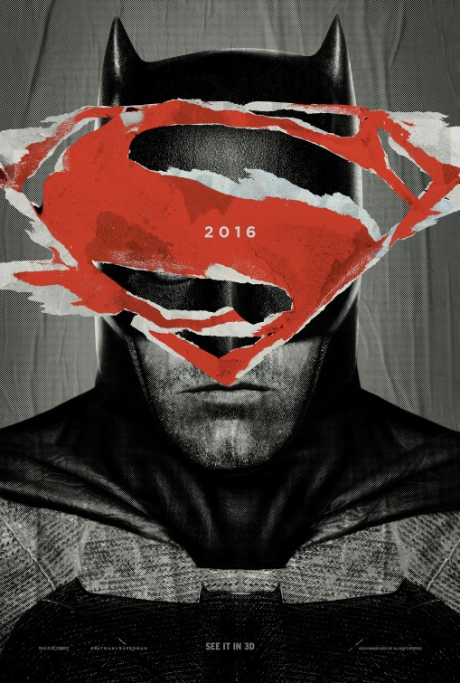 Batman v Superman Dawn of Justice teaser poster