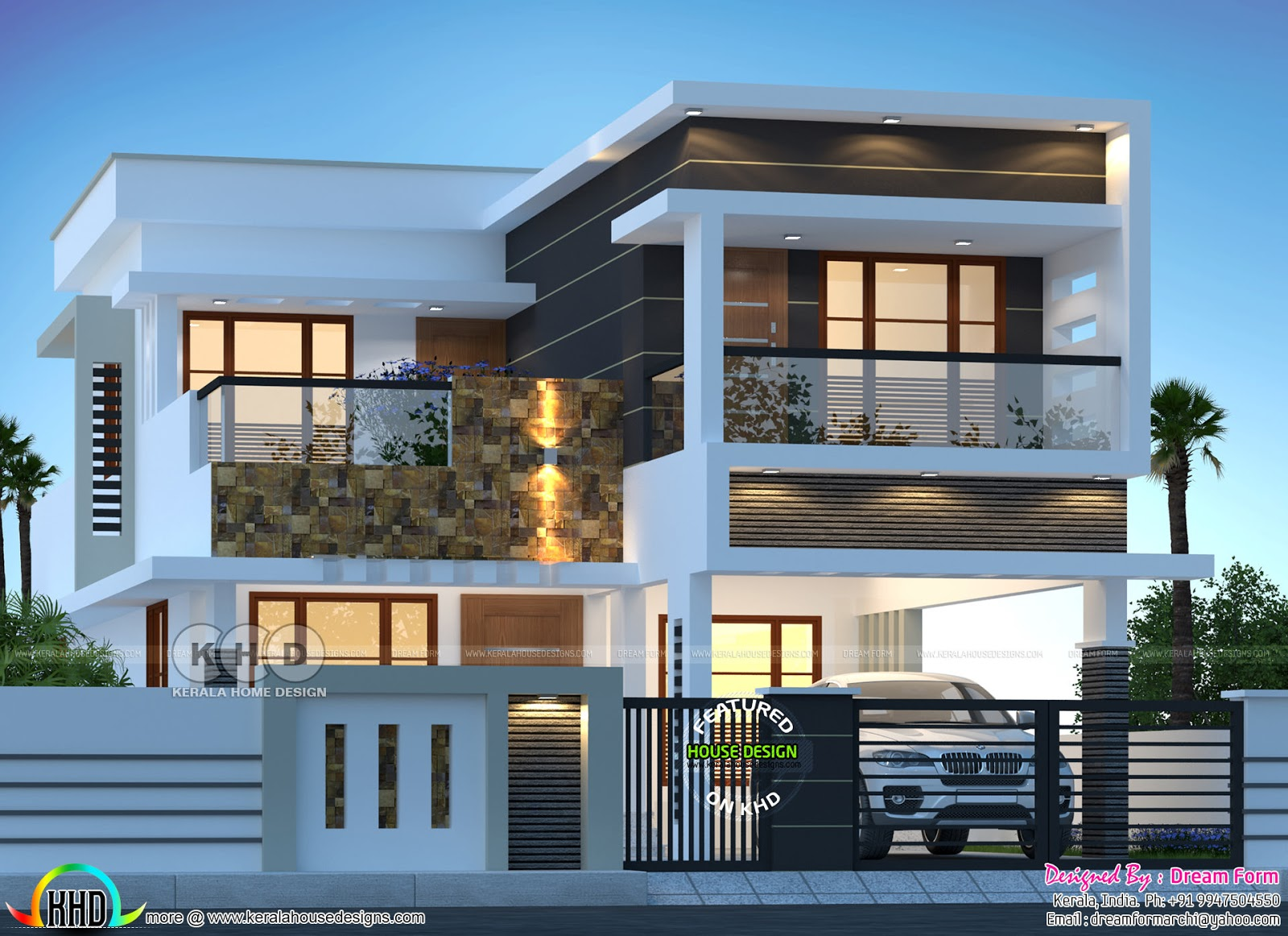200 sq-m 3 BHK modern house plan - Kerala home design and ...