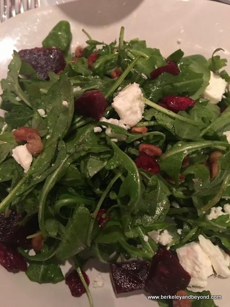 beet salad at Adam's Restaurant in Willits, California