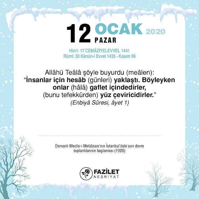 Enbiyâ 1