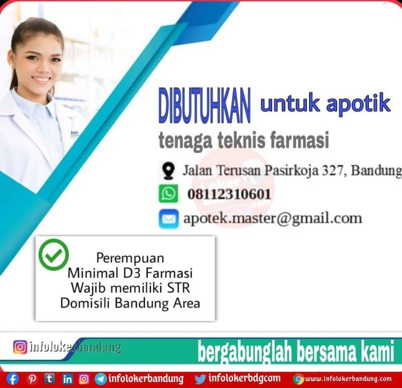 Lowongan Kerja Teknisi Farmasi Apotik Master Februari 2021 Info Loker Bandung 2021