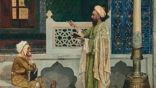 Koranic Instruction by Turkish pioneer painter  Osman Hamdy Bey ( 1842-1910)