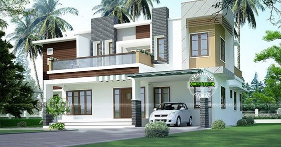 Square Feet Box Model Flat Roof Home Kerala Design And Floor Plans