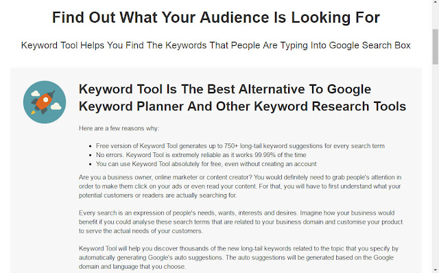 the best alternative keyword research tool to Google