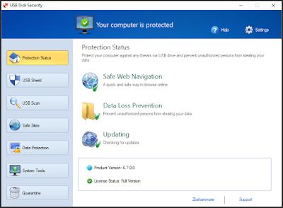 إستخدام برامج حماية محمولة لفحص أجهزة التخزين الملحقة
