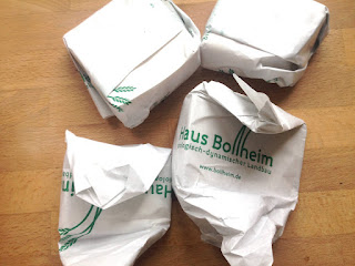 Auf dem Biomarkt Käse vom Haus Bollheim gekauft