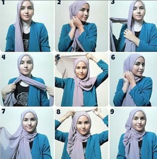 Gambar Tutorial Hijab Modern Untuk Ke Pantai