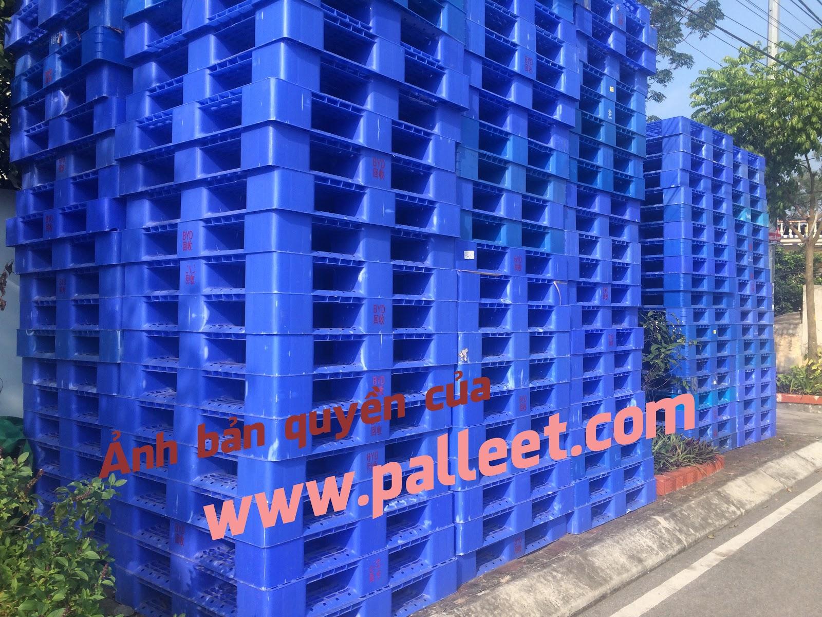 pallet nhựa cũ đã qua sử dụng