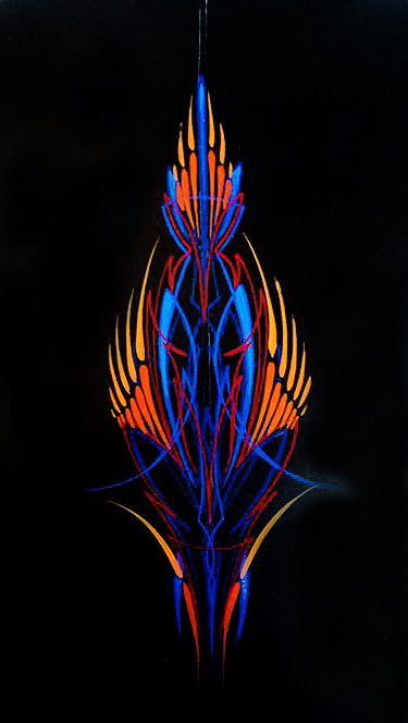 Just A Car Guy Kong S Piece Of Pinstriping Art Made To Donate To A Charity And It S Nice But It Looks Very 3d To Me Like That Blue Is Layers Deeper Than