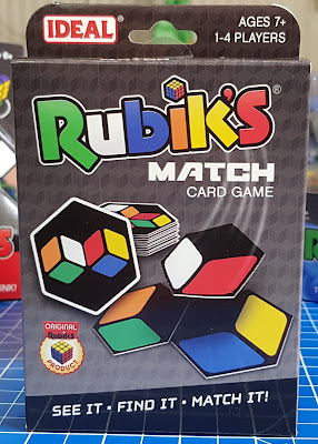 Rubik's Match Card Game pack shot small box with pack of cards